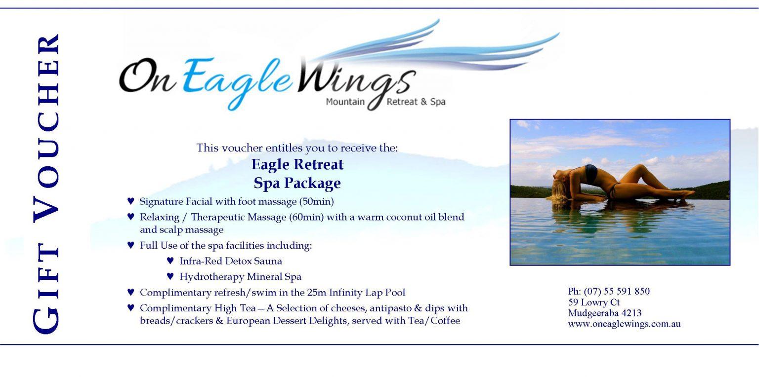 Eagle Retreat Spa Package - On Eagle Wings